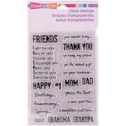 "Stampendous® 4"" x 6"" Sheet Perfectly Clear Stamps, Happy Greetings"