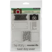 """Penny Black® 5"""" x 6 1/2"""" Sheet Clear Stamp Set, Remember This"""