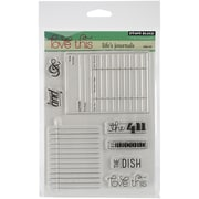 "Penny Black® 5"" x 6 1/2"" Sheet Clear Stamp Set, Life's Journals"