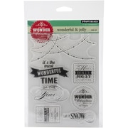 "Penny Black® 5"" x 7 1/2"" Sheet Clear Stamp Set, Wonderful & Jolly"