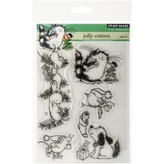 """Penny Black® 5"""" x 7 1/2"""" Sheet Clear Stamp Set, Jolly Critters"""