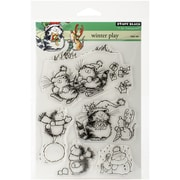 """Penny Black® 5"""" x 7 1/2"""" Sheet Clear Stamp Set, Winter Play"""