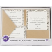 Wilton® Kraft Pocket Invitation Kit For Wedding
