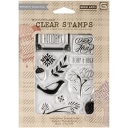 Hero Arts® Basic Grey Evergreen Clear Stamps, Merry & Bright Holidays