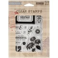 Hero Arts® Basic Grey Evergreen Clear Stamps, Peace & Joy Christmas
