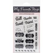 "My Favorite Things 4"" x 6"" Sheet Die-Namics Companion Stamps, Mason Jar Labels"