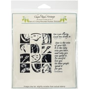 "Class Act 5 3/4"" x 6 3/4"" Chapel Road Cling Mounted Rubber Stamp Set, Clock Works"