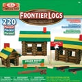 Slinky 220-Pieces Frontier Logs Classic All Wood Construction Set With Sealed Storage Box