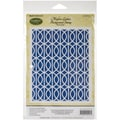 Justrite Papercraft® 4 1/2in. x 5 3/4in. Cling Background Stamp, Modern Lattice