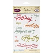 "Justrite Papercraft® 4"" x 6"" Clear Stamp Set, Extra Grand Sentiments"
