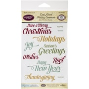 "Justrite Papercraft® 4"" x 6"" Clear Stamp Set, Extra Grand Holiday Sentiments"