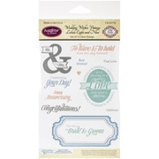 "Justrite Papercraft® 4"" x 6"" Clear Stamp Set, Wedding Wishes Vintage Labels 8 & 9"