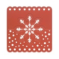 Ecstasy Crafts Joy! Crafts Cut and Emboss Die, Head Tag Snowflake