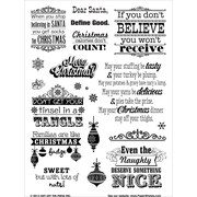 "Hot Off The Press 6"" x 8"" Acrylic Stamps Sheet, Naughty & Nice"