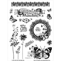 Hot Off The Press 6in. x 8in. Acrylic Stamps Sheet, Unforgettable