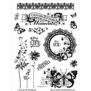 "Hot Off The Press 6"" x 8"" Acrylic Stamps Sheet, Unforgettable"