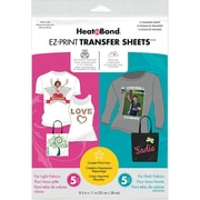 "Thermoweb Heat'n Bond EZ Print Transfer Sheet Combo, 8 1/2"" x 11"""