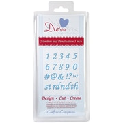 Crafter's Companion Die'sire Decorative Cutting Die, Numbers & Punctuation 1