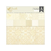 "Authentique Paper™ Double Sided Paper Pad, 12"" x 12"", Faith"