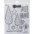 Ranger 8 1/2in. x 7in. Dyan Reaveley's Dylusions Cling Stamp Collections, One Two Three