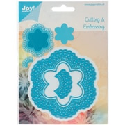 Ecstasy Crafts Joy! Crafts Cut & Emboss Die, 6-Point Flower and Doily