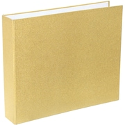 American Crafts™ Shimelle POW Glitter D-Ring Album, Gold, 12 x 12
