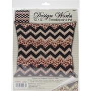 "Tobin Stitched In Yarn Needlepoint Kit, 12"" x 12"", Leopard ZigZag"