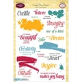 Justrite Papercraft® 6in. x 8in. Clear Stamp Set, Colorful Brush Strokes
