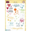 Justrite Papercraft® 6in. x 8in. Clear Stamp Set, Bokeh Time