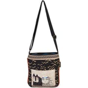 "Laurel Burch® 10 1/2"" x 11"" Crossbody Tote Bag, Black Wild Cats"