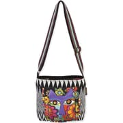 "Laurel Burch® 13 1/2"" x 4"" x 10"" Crossbody Bag, Blossoming Feline"