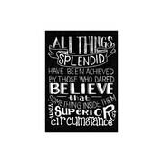 Melissa Frances All Things Splendid Chalkboard Canvas Print