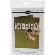 Sizzix® Thinlits Die, Card With Merry Cut-Out