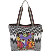 "Laurel Burch® 17"" x 13"" Shoulder Tote, Blossoming Feline"