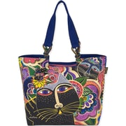 "Laurel Burch® 21"" x 5"" x 15"" Shoulder Tote, Carlotta's Cats"