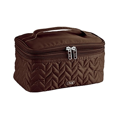 Lug Two-Step Cosmetic Case, Chocolate