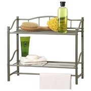 Creative Bath Complete Bath Wall Cabinet with Towel Bar; Pearl Nickel
