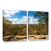 ArtWall Virginia Kendall by Cody York 2 Piece Gallery-Wrapped Canvas Set; 24'' H x 36'' W x 2'' D