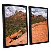 ArtWall Sedona by Cody York 2 Piece Framed Photographic Print on Canvas Set; 24'' H x 36'' W x 2'' D