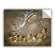 ArtWall Baby Ducks by David Kyle Art Appeelz Removable Wall Decal; 14'' H x 18'' W x 0.1'' D