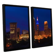 ArtWall Cleveland 5 by Cody York 2 Piece Floater Framed Canvas Set; 24'' H x 36'' W x 2'' D