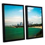ArtWall Cleveland 22 by Cody York 2 Piece Floater Framed Canvas Set; 24'' H x 36'' W x 2'' D