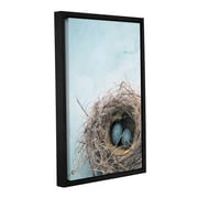 ArtWall 'Blue Nest' by Elena Ray Floater-Framed Graphic Art on Canvas; 48'' H x 32'' W x 2'' D