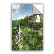 ArtWall House On The Hill by Cynthia Decker Art Appeelz Removable Wall Mural; 18'' H x 12'' W