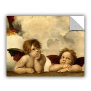 ArtWall Cherubs by Raphael Art Appeelz Removable Wall Decal; 18'' H x 24'' W x 0.1'' D