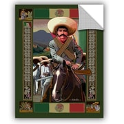 ArtWall Zapata by Rick Kersten Art Appeelz Removable Wall Decal; 32'' H x 24'' W x 0.1'' D