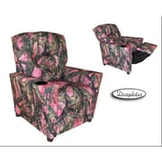 Dozy Dotes Cup Holder Kid's Recliner; Fabric - Camoufage Pink with True Timber