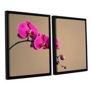 ArtWall Magenta Orchid by Elena Ray 2 Piece Framed Photographic Print on Canvas Set