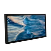 ArtWall Rolling Waves by David Kyle Gallery-Wrapped Floater-Framed Canvas; 8'' H x 24'' W x 2'' D