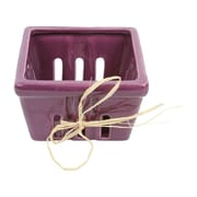 DEI Farm to Table Large Ceramic Berry Fruit Basket; Purple
